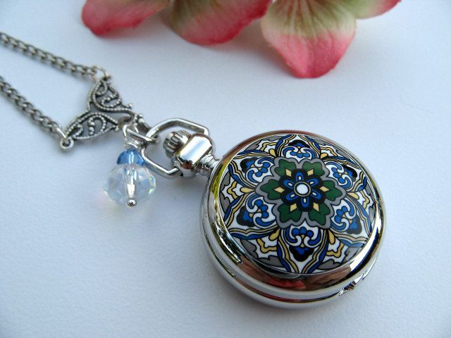 McCall, you should have this because you love pocket watches but this one is a necklace!
