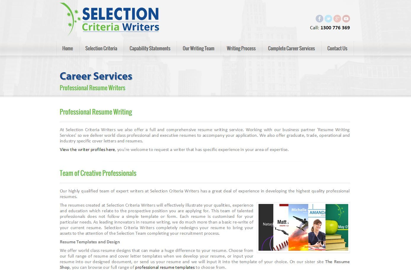 Resume writing service process