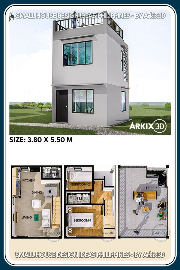 2 Storey with Roof Top