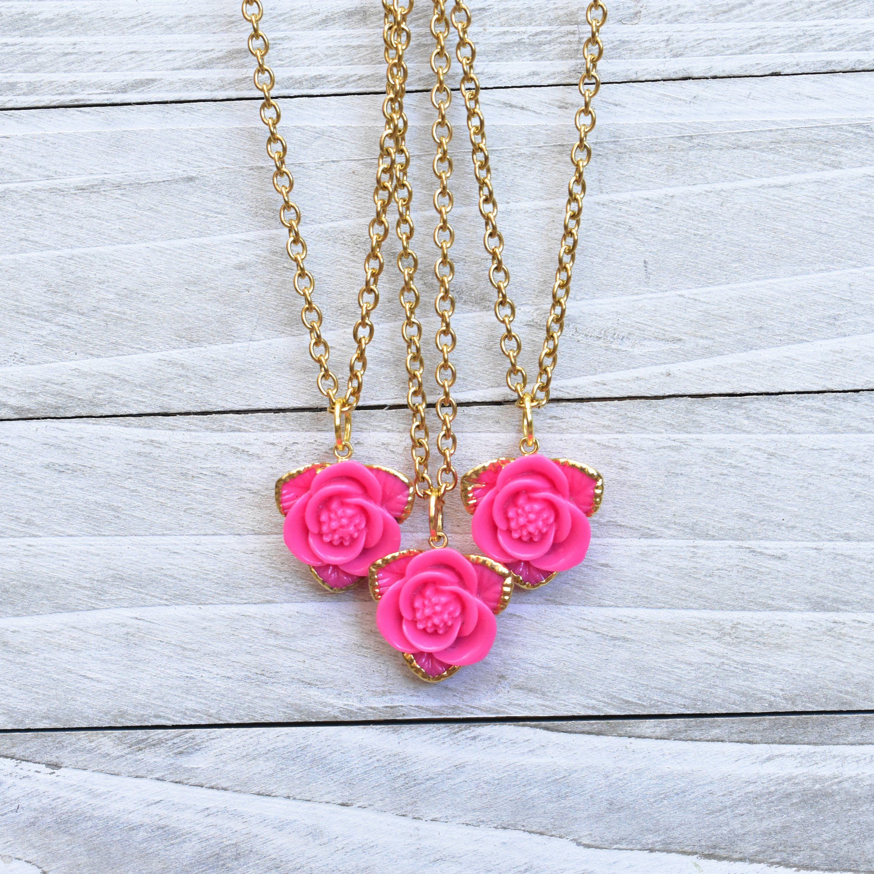 Rose charm on a Stainless steel Chain.