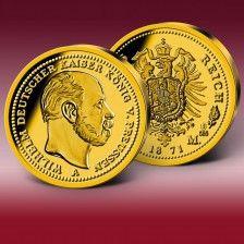 Gold-Neuprägung  20 Mark  Wilhelm I. 1871