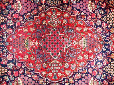 "patternatic: "" Close-up of a Qashqai Carpet, Amin's Shop, Damascus, Syria """
