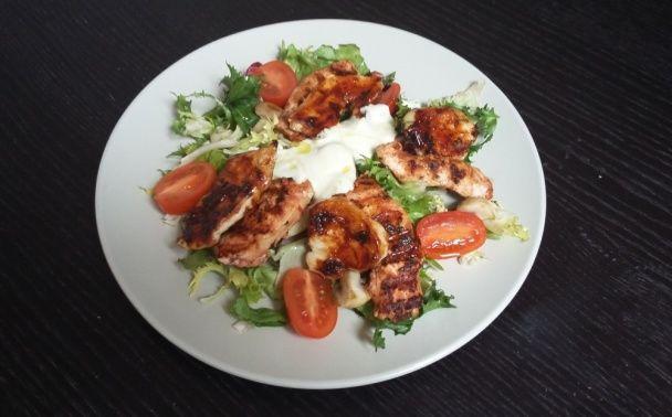 Zeleninový šalát s kuracím mäsom dvoch chutí (fotorecept) - obrázok 8