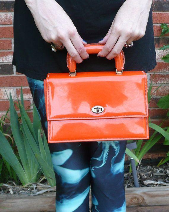 Vintage Stylemark BRIGHT Orange Purse Made in USA by CreaturesToil