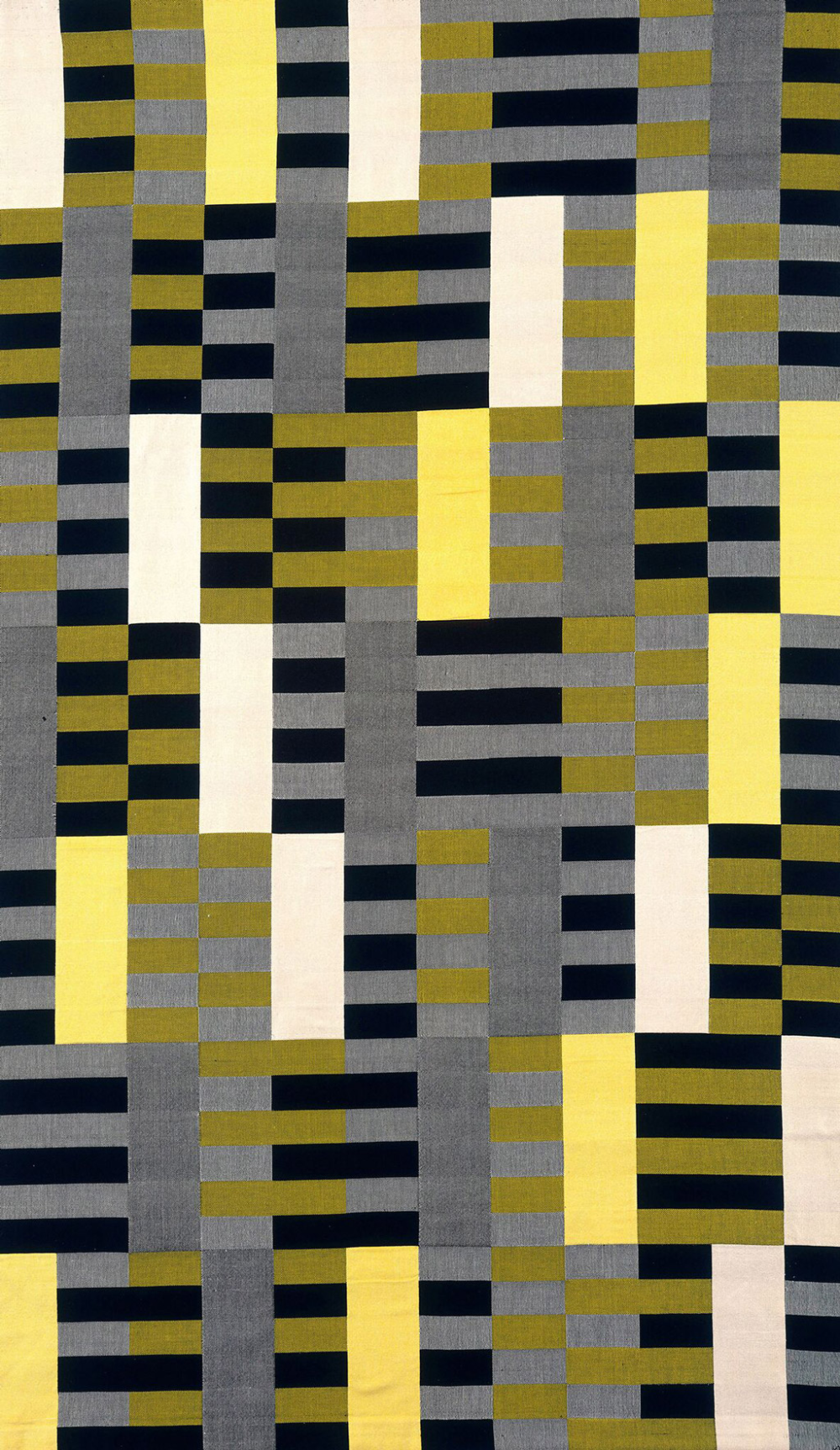 Anni Albers Black White Yellow 1926 1965 Cotton And Silk In