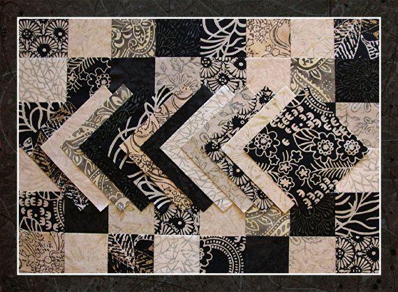 60 Cotton Batik  5 Squares Quilt Kit  SALT & by GotalotaBatiks, $13.50