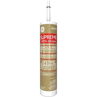 Ge Supreme Silicone 10 1 Oz White Kitchen And Bath Caulk Kitchen And Bath Caulk Dish Soap Bottle