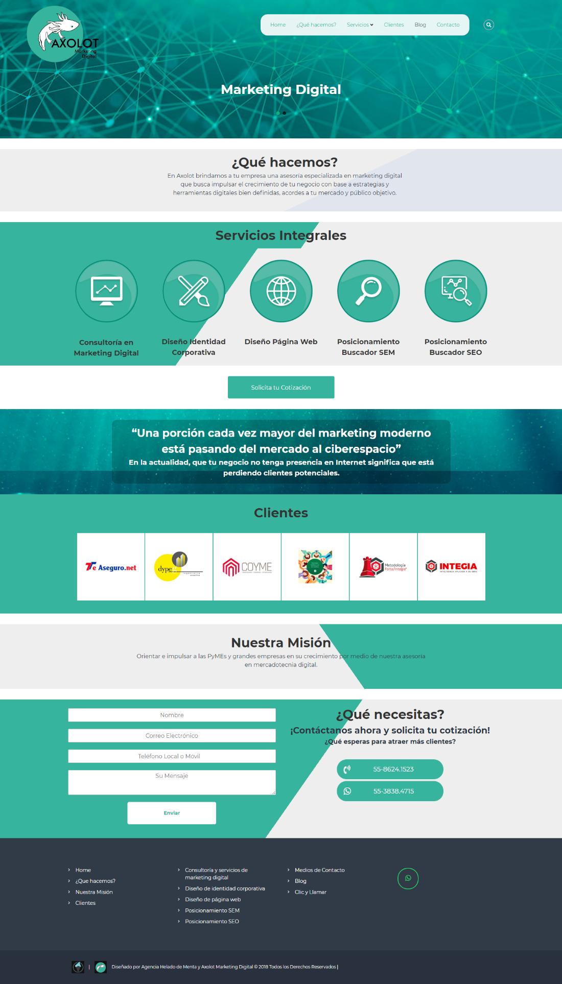 Diseno De Pagina Web Responsive Con Crm Diseno De Pagina Diseno Web Minimalista Diseno De Paginas Web
