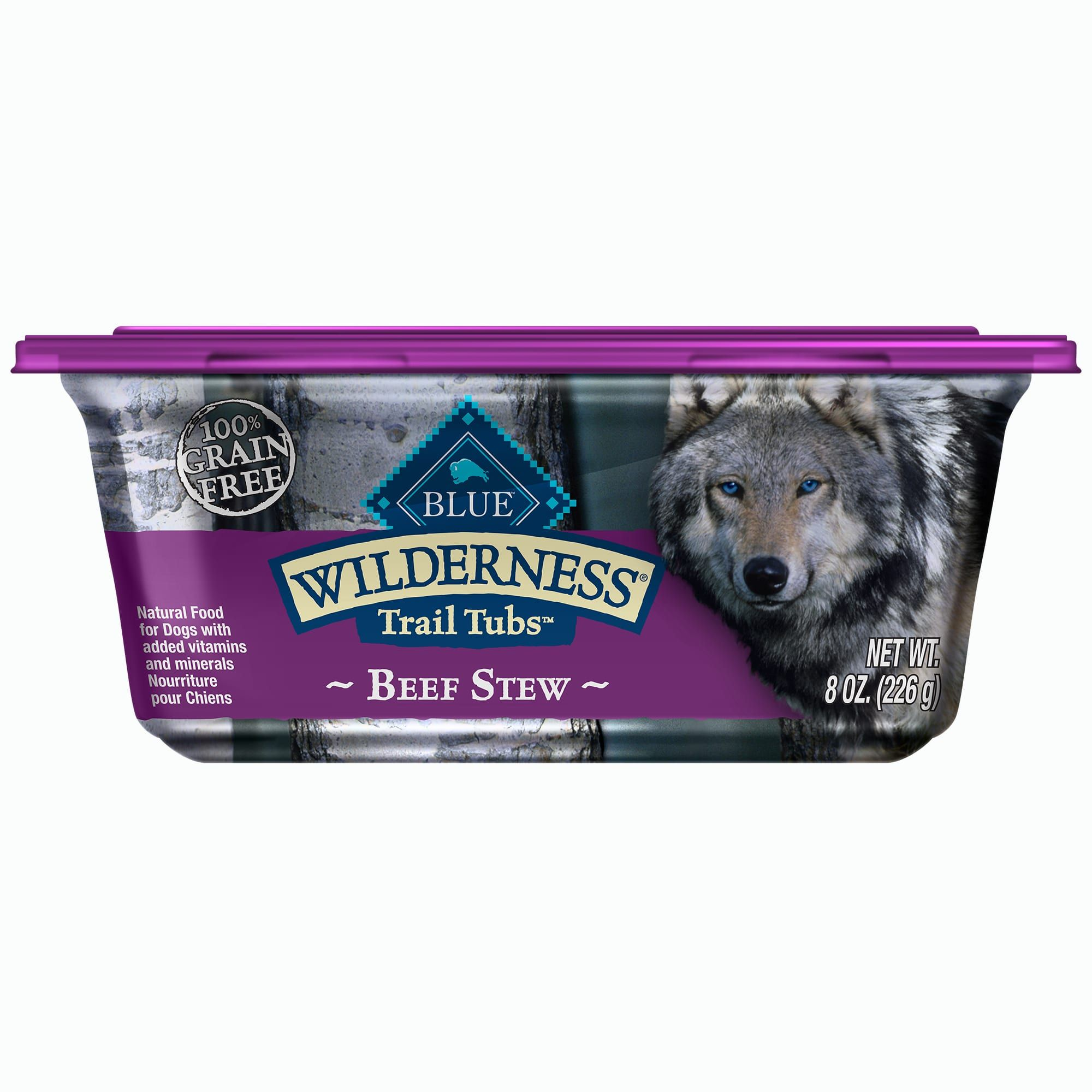 Blue Buffalo Blue Wilderness Trail Tubs Beef Stew Wet Dog Food 8