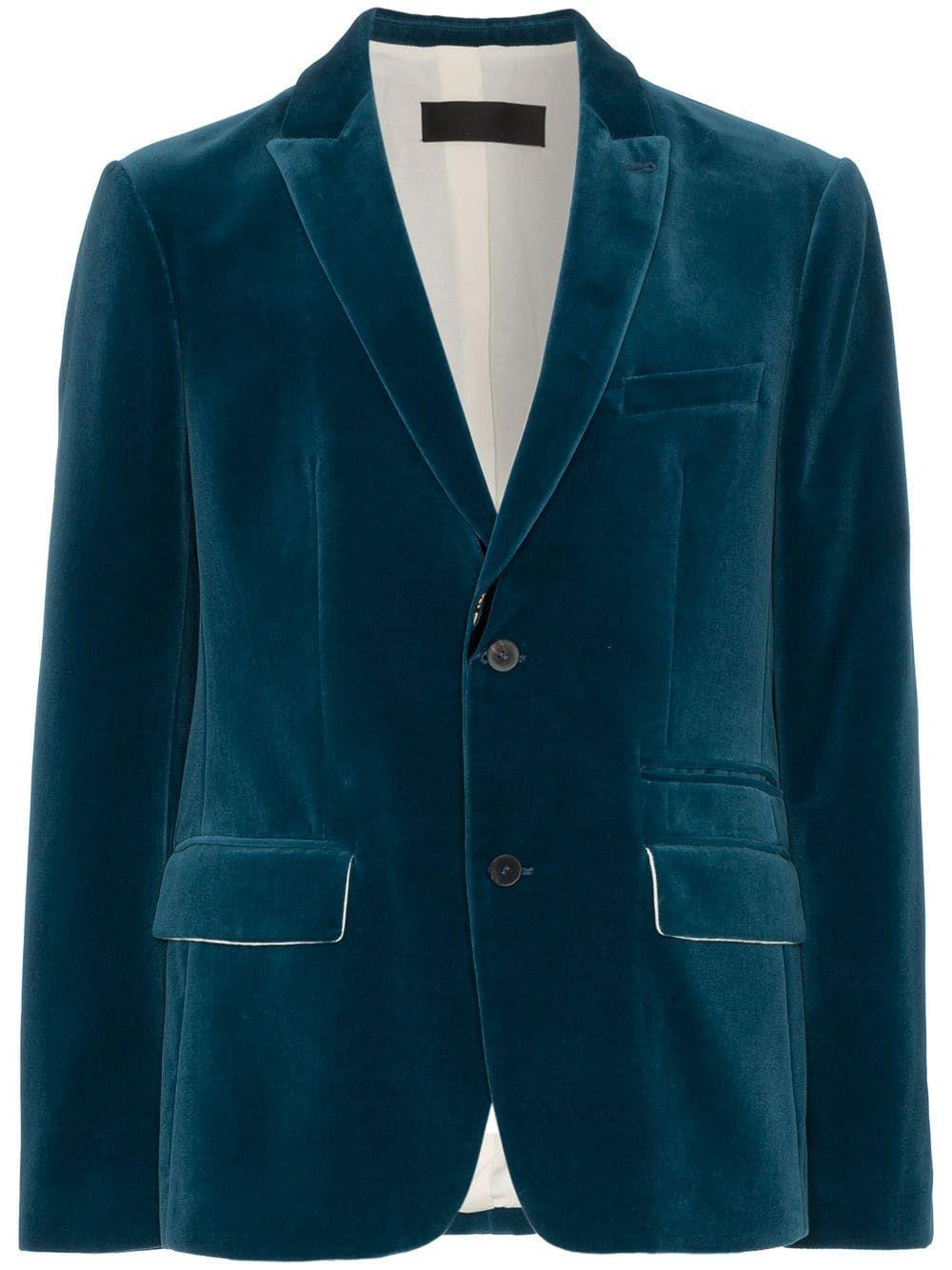 3d5f2c16d Haider Ackermann Velvet Suit Jacket - Blue in 2019 | Products ...