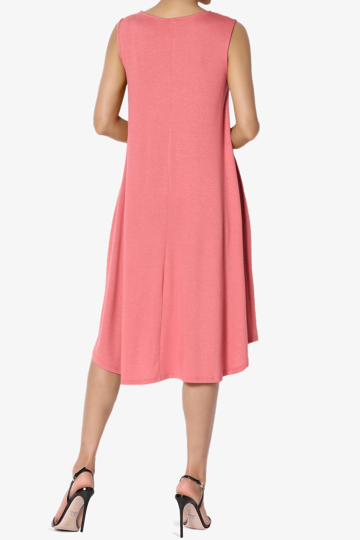 Themogan Themogan Women S S 3x Sleeveless Fit Flare A Line Draped Jersey Midi Long Dress Walmart Com Long Midi Dress Fashion Dresses [ 1800 x 1200 Pixel ]