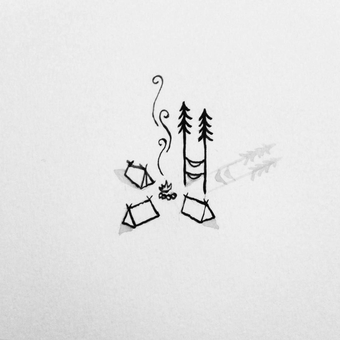 Camp with friends! | Doodles | Drawings, Easy drawings ...