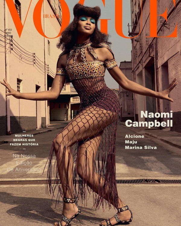 Modeling Legend Naomi Campbell Get 3 Covers for Vogue Brasil May 2016