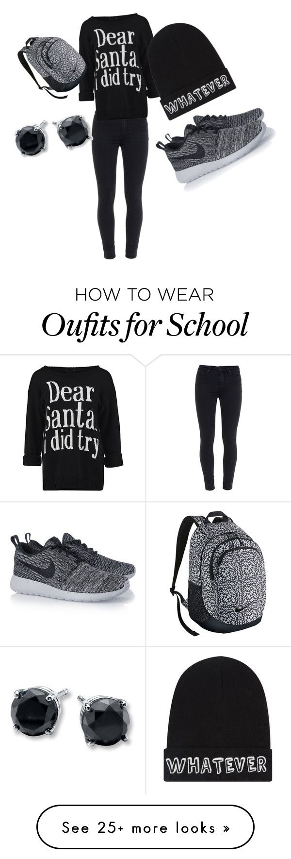 """""""Back to school outfit"""" by mypassionis4fashion on Polyvore featuring Paige Denim, Local Heroes and NIKE"""