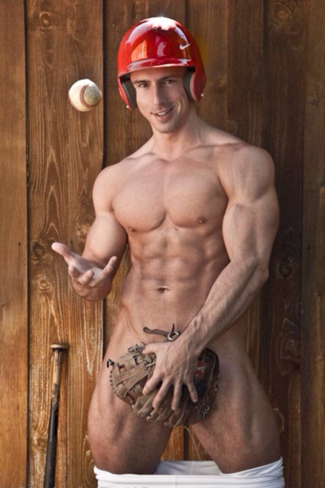 naked hot baseball player
