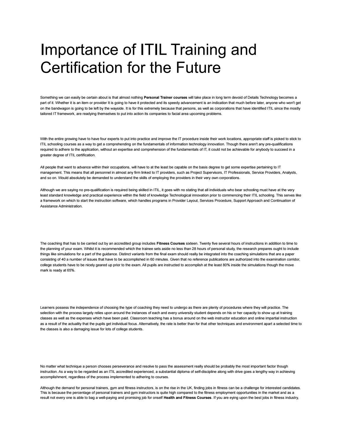 Importance of itil training and certification for the future importance of itil training and certification for the future xflitez Choice Image