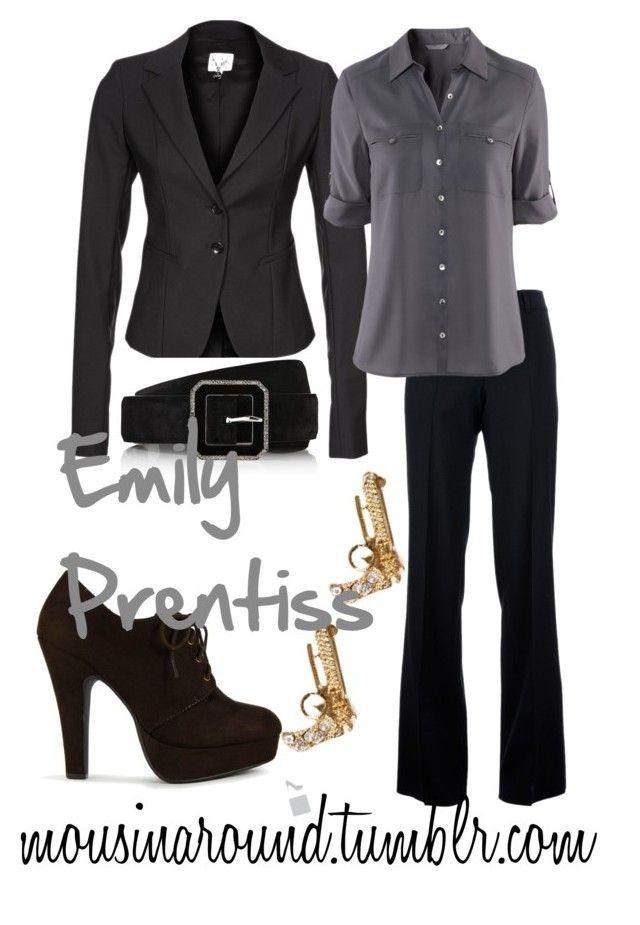 Emily Prentiss by pbuzenski on Polyvore featuring H&M, Patrizia Pepe, Chloé and Ralph Lauren Black Label