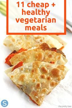 Cheap and healthy vegetarian meals made easy!  These 11 recipes are perfect for the vegetarian on a budget. http://www.simplemost.com/11-cheap-vegetarian-meals-healthy-doesnt-break-bank/?utm_source=pinterest