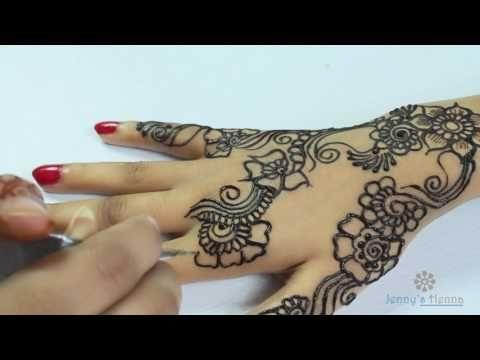 Henna Mehndi Edinburgh : How to apply floral flowers outline mehndi design