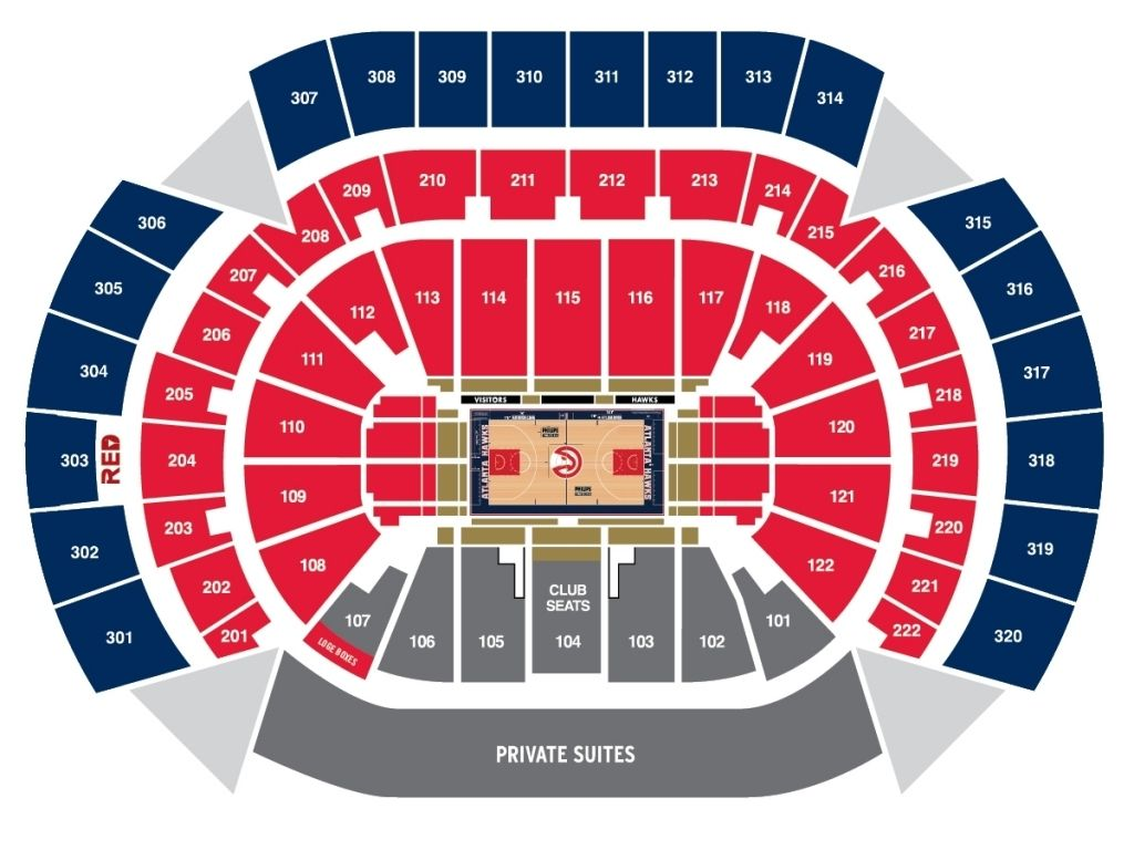 Atlanta Hawks Seating Chart Philips Arena Seating Charts Chart