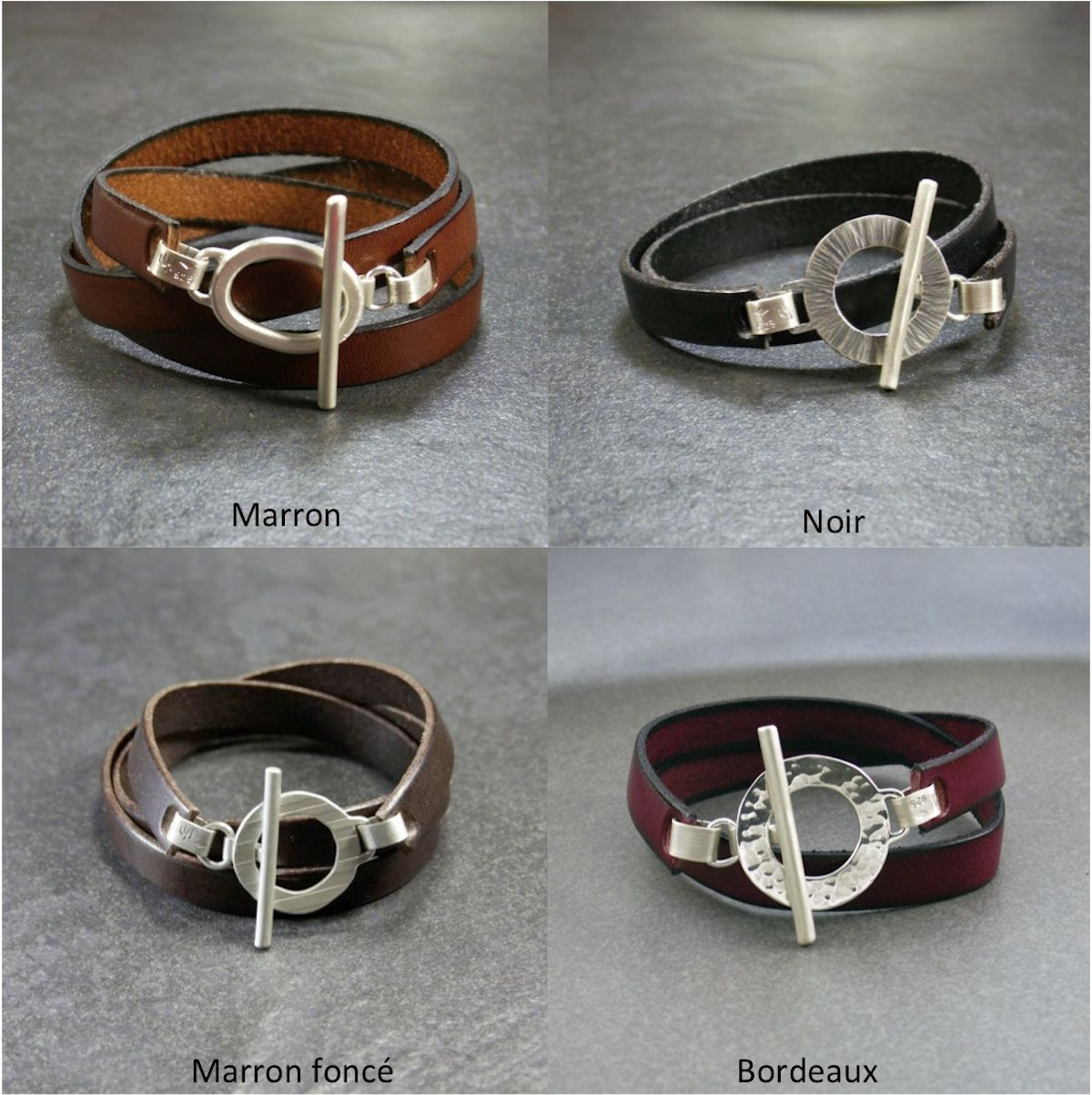 Bijoux bracelet en cuir femme
