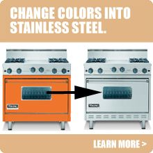 Viking Range Parts >> Convert Your Viking Appliance From Color To Stainless With