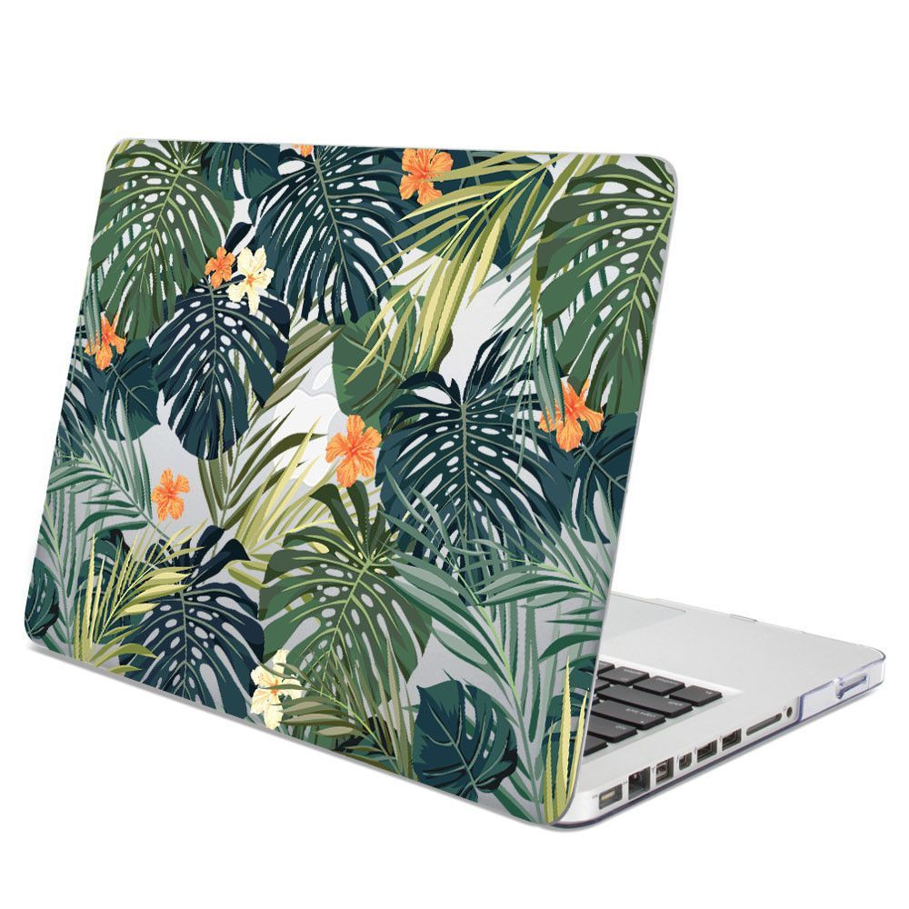 Hard Case Print Glossy Tropical Leaf For Apple MacBook Pro 13 Inch