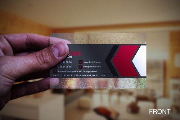 Check Out Tranparent Business Card By Marvel On Creative Market
