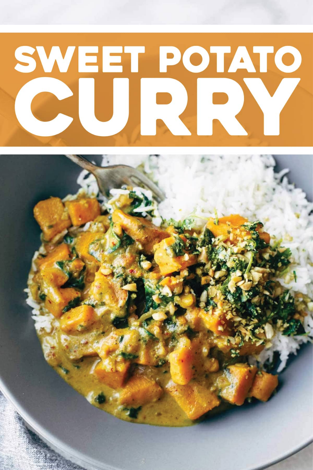 Creamy Thai Sweet Potato Curry - packed with nutrition! Our favorite easy, healthy, winter comfort food recipe. Vegetarian and vegan #curry #vegetarian #vegan