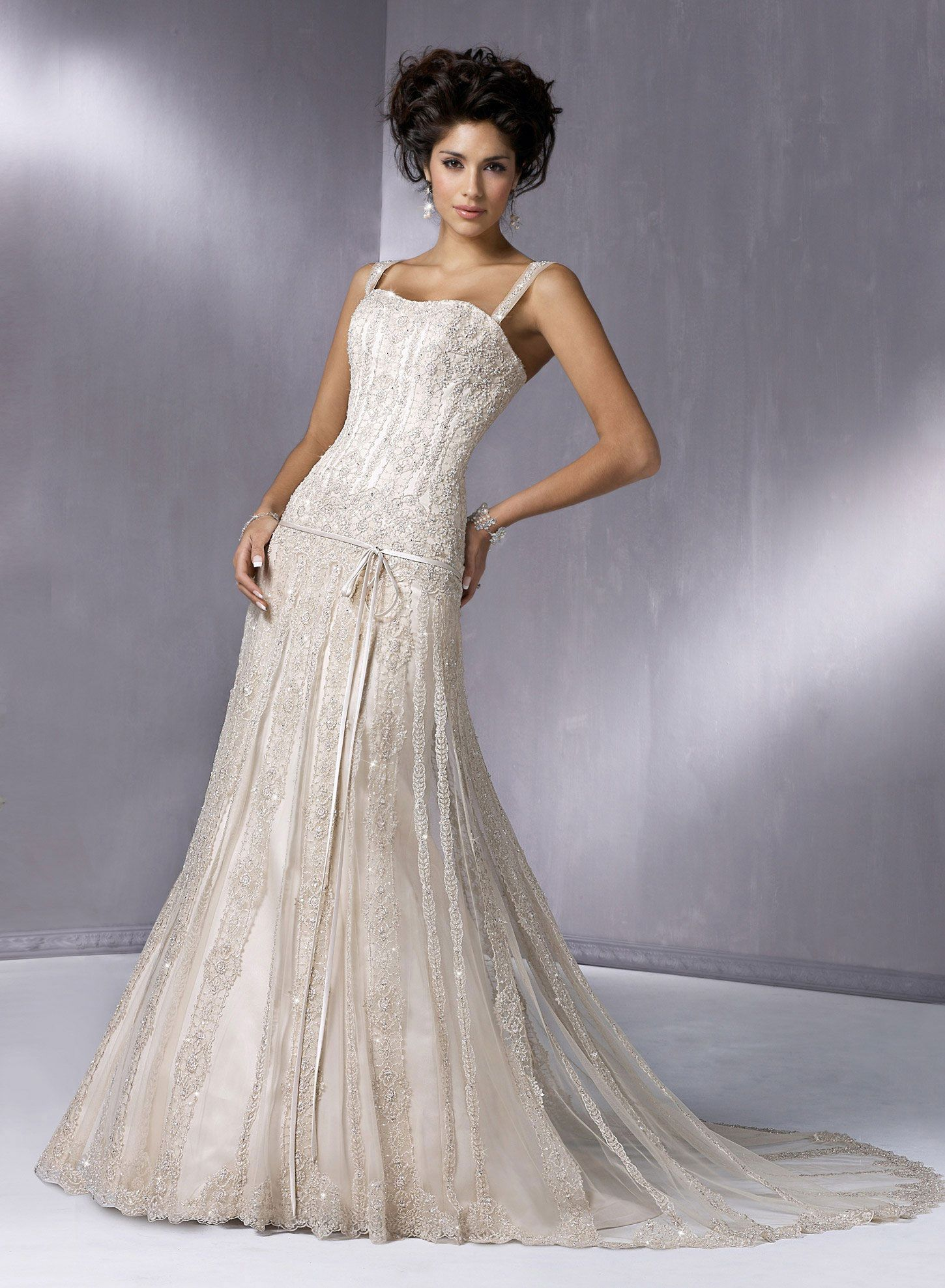 Wedding dresses for broad shoulders  Gatsby Wedding Dress By Maggie Sottero  sara designs  Pinterest