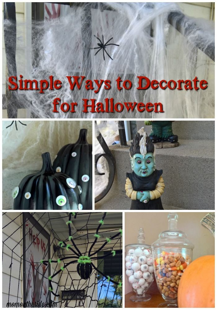 Simple Ways to Decorate for Halloween + Googly Eyed Pumpkins - ways to decorate for halloween