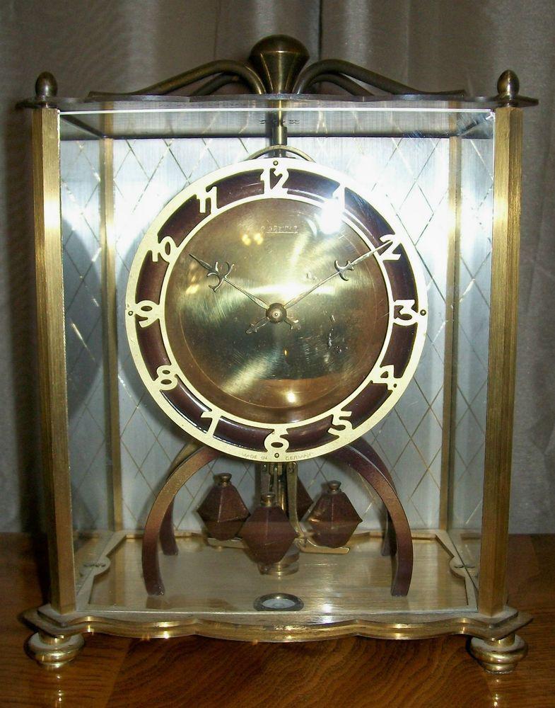 vintage forestville art deco brass anniversary clock - Anniversary Clock
