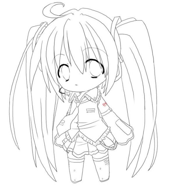 Chibi Anime Girl Coloring Pages To Print