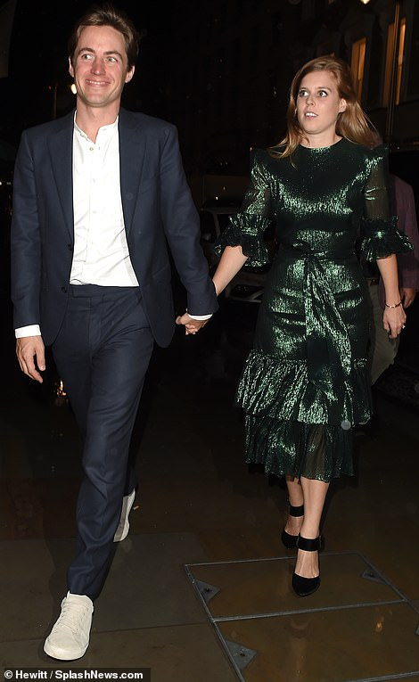 Princess Beatrice and fiance seen for first time since