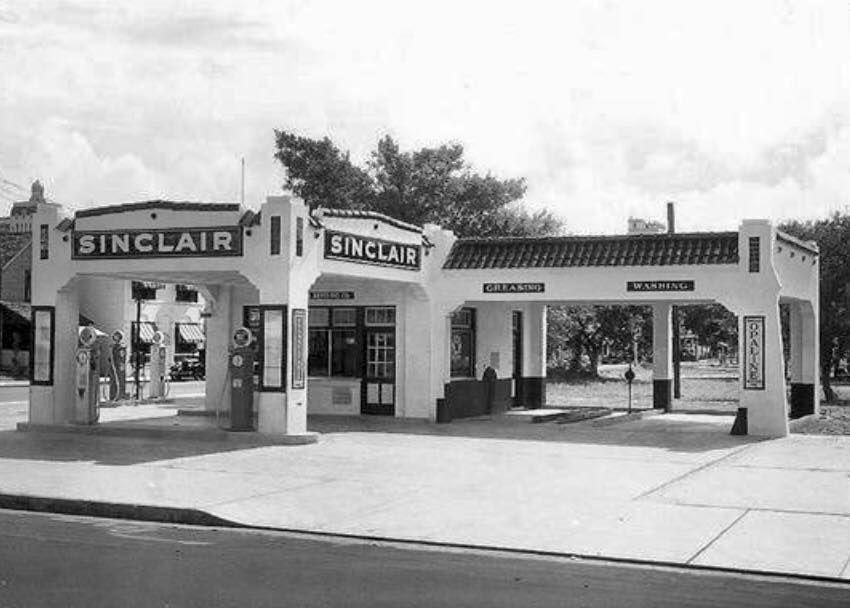 Gasolinera Sinclair En La Ciudad De San Antonio Texas