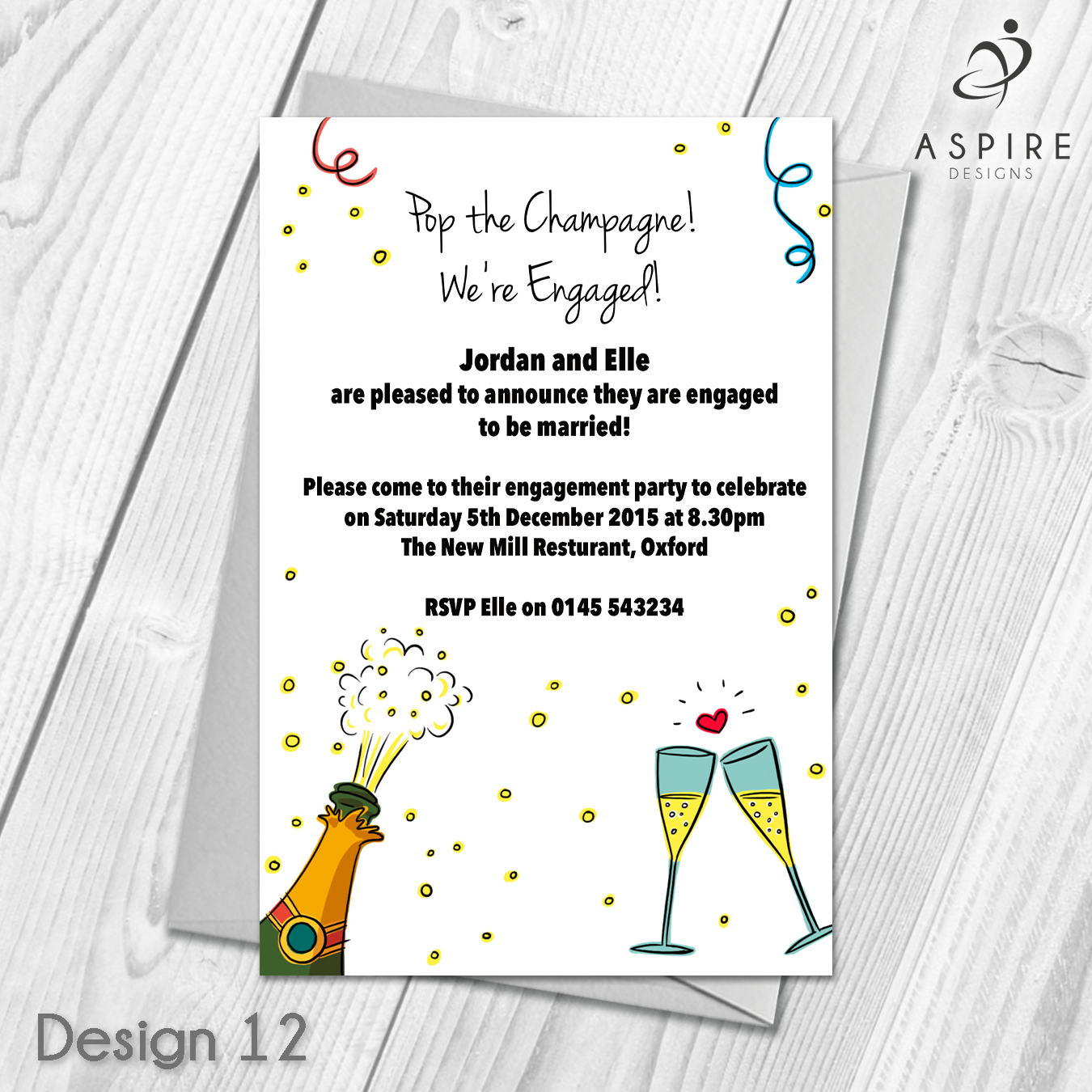 Personalised Engagement Announcement Party Invitations ...