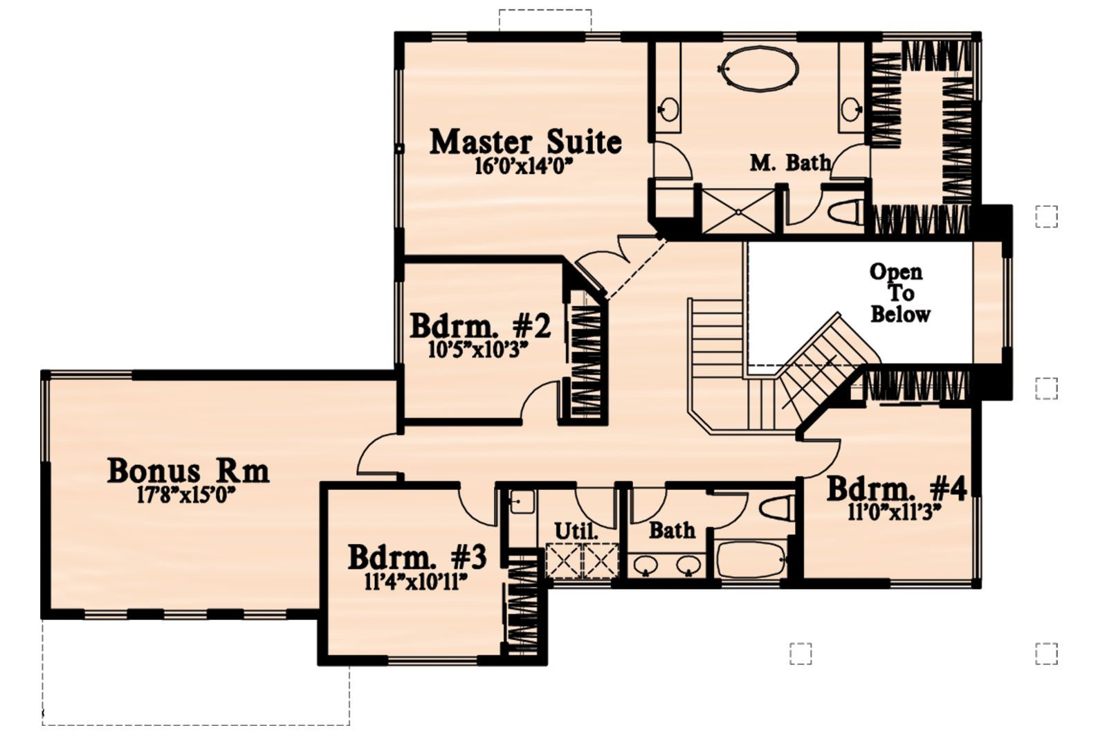 House Plan 4771 00001 Contemporary Plan 3 038 Square Feet 4 Bedrooms 2 5 Bathrooms House Plans Modern House Plans Contemporary House Plans