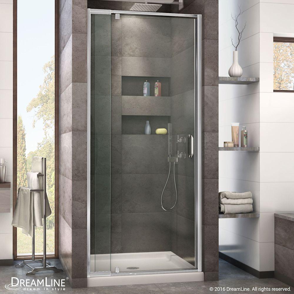 Flex 28 Inch To 32 Inch X 72 Inch Framed Pivot Shower Door In