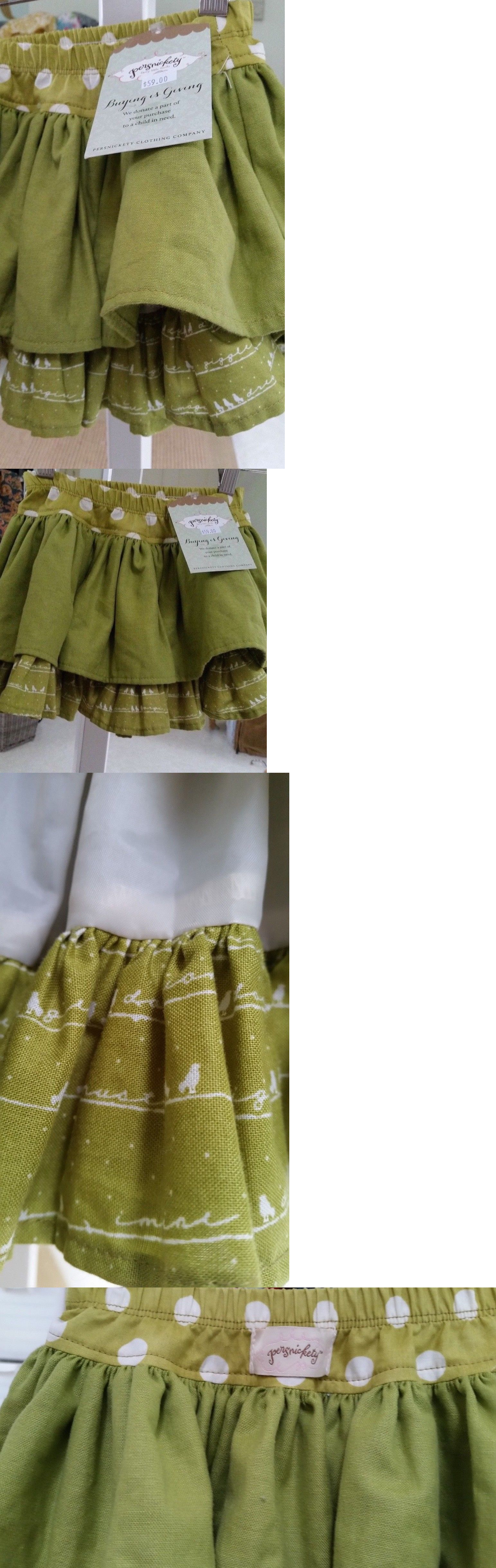 Skirts 147214: Persnickety Girls Green Apple Lined Ruffle Full Skirt ...