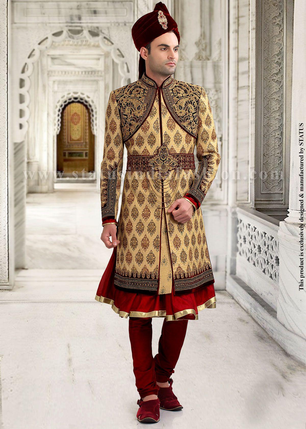 Wedding dress designers under 5000  Mens wear groom wedding dress groom sherwani designer indo
