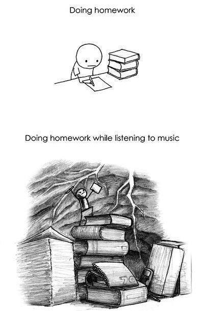 music to listen to when doing homework