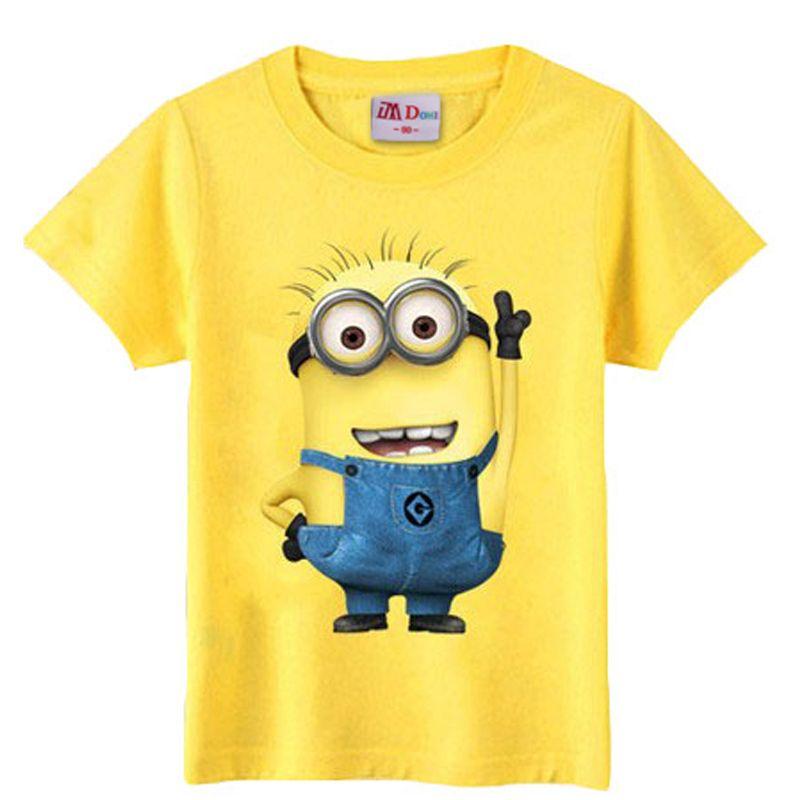 3b9eab3266c11 christmas children's clothing minions t shirt kids baby boy girl ...