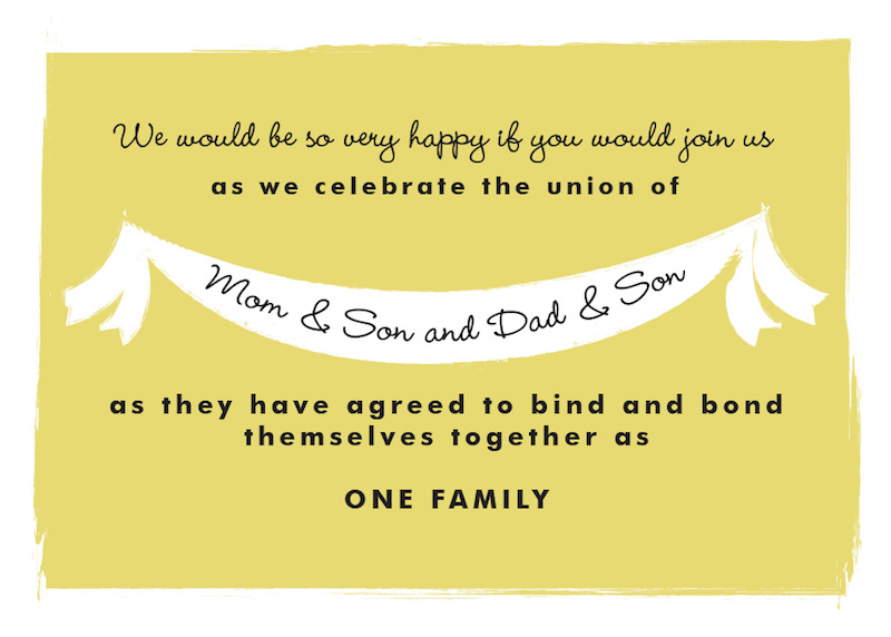 Steal this invitation wording for your own blended family wedding steal this invitation wording for your own blended family wedding invitation stopboris Image collections