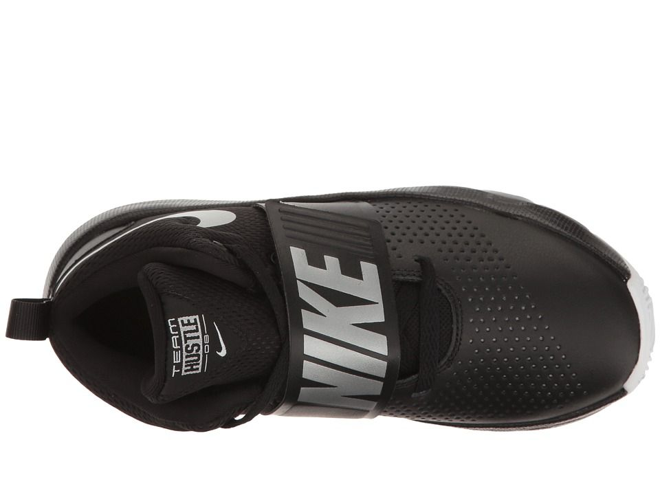 267cf6a0933d35 Nike Kids Team Hustle D8 (Big Kid) Boys Shoes Black Metallic Silver ...