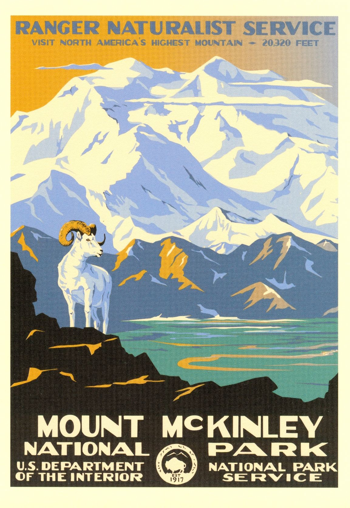Mount Mckinley Have This Poster Framed I The Room Too Wpa National Park Posters Vintage National Park Posters National Park Posters