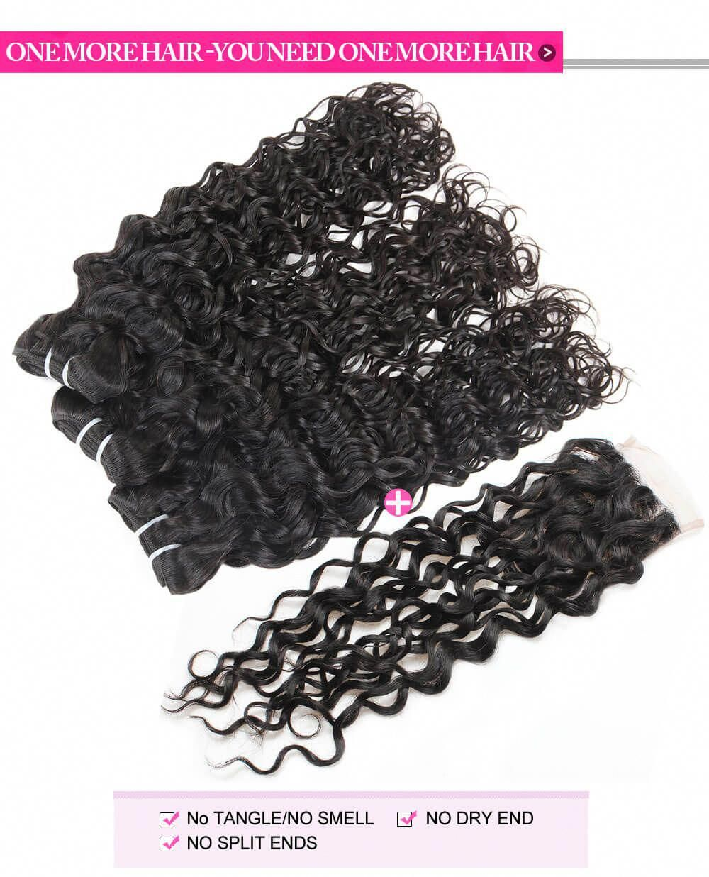 Malaysian virgin remy hair sew ins water wave hair weave bundles