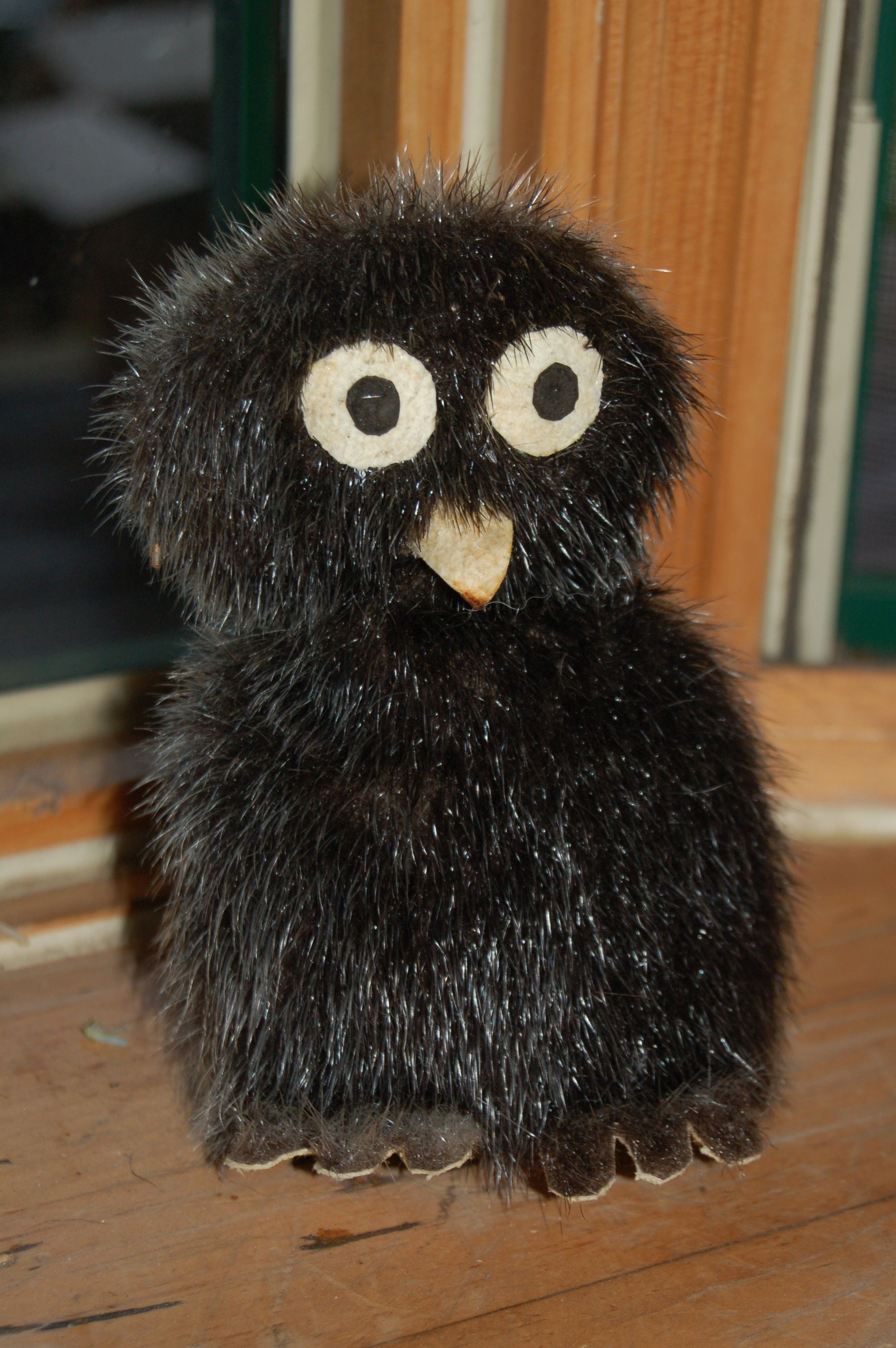 Inuit artwork (sealskin owl) | Stuffed animal | Pinterest