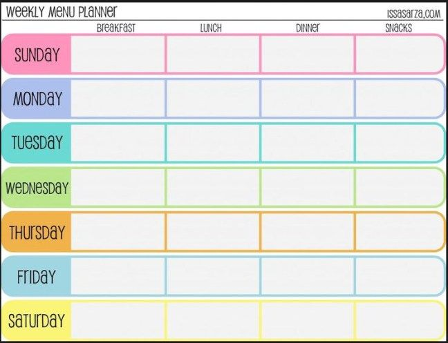 Free Printable Weekly Calendar Templates 2015 Admin Pinterest