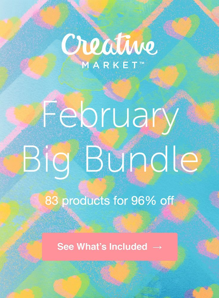 #February #Big #Bundle: Over $1,100 in Design Goods For Only $39!