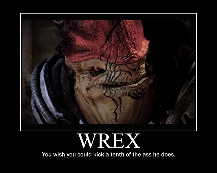 Mass Effect Funny Wrex Mass Effect Mass Effect